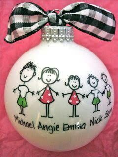 Personalized family ornament by LSTNGMemoryCreations on Etsy