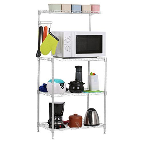 Langria 3tier Microwave Storage Rack Shelving With Wire Mesh