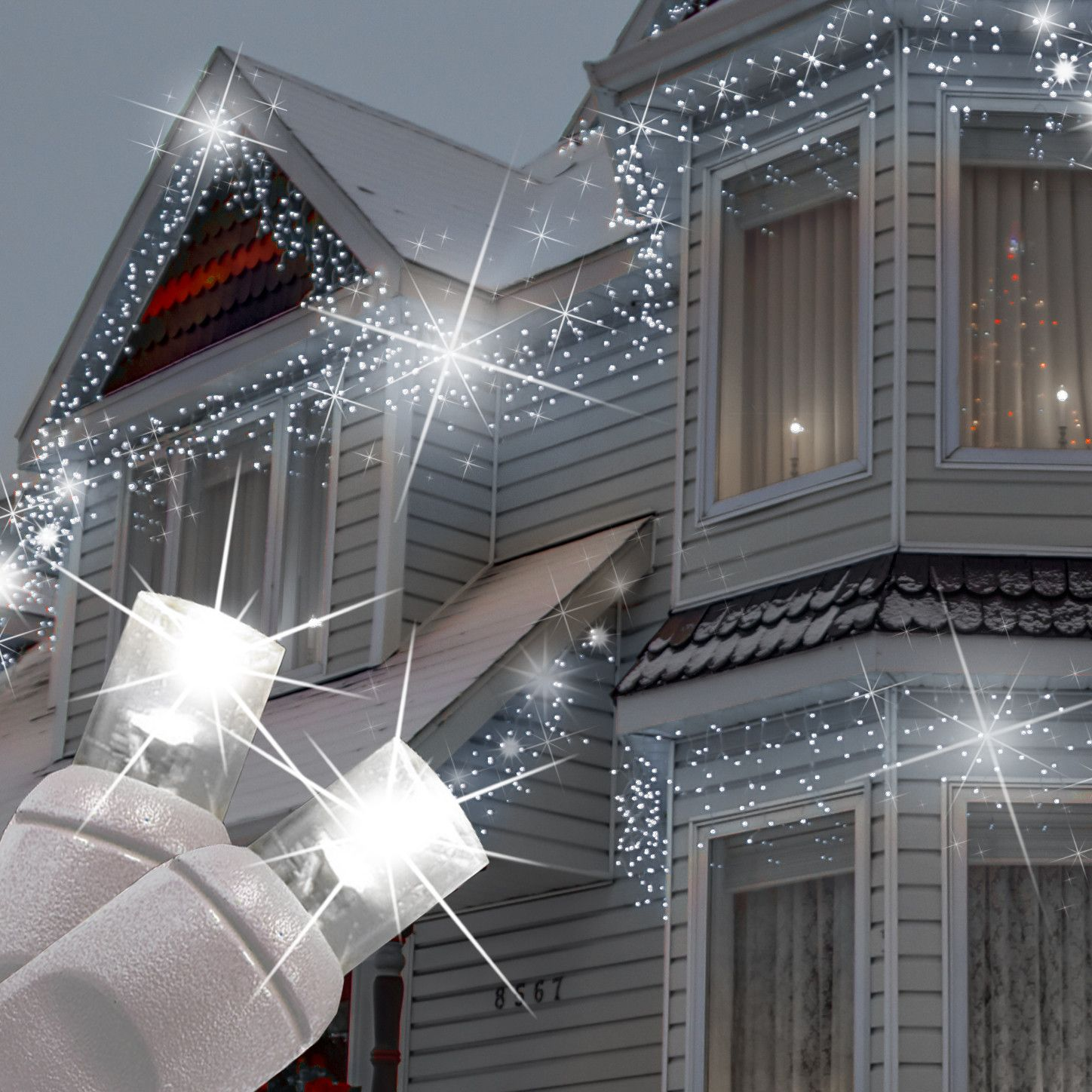 5mm Cool White Twinkle Led Icicle Lights Led Icicle Lights