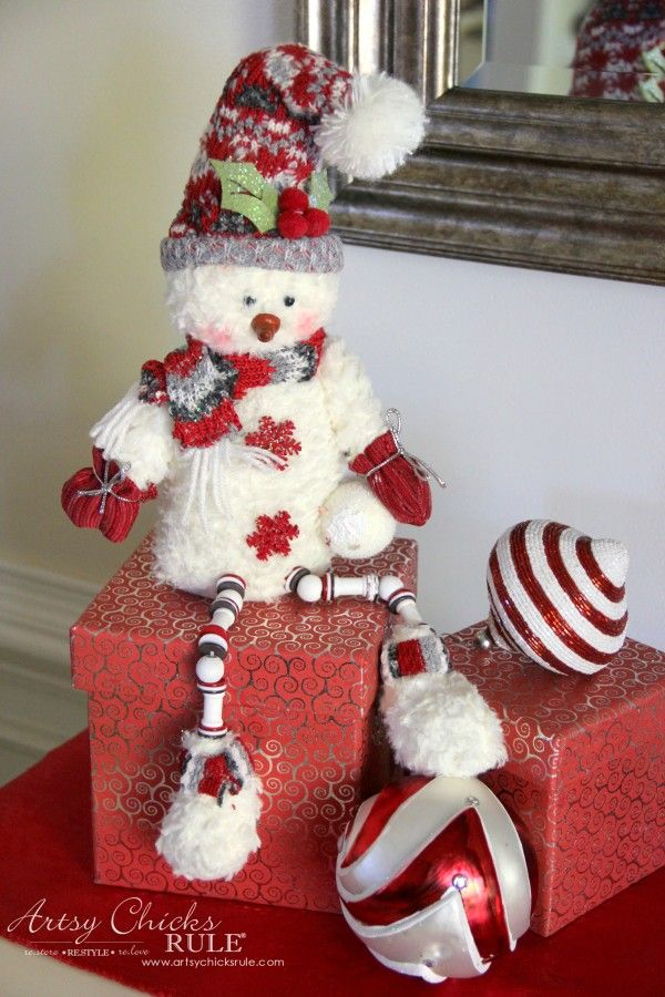 Holiday Decor Ideas with At Home (Pt 3 of 3) Mr. Snowman - #AtHomeforChristmas #AtHomeFinds #ad