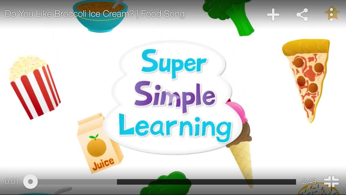 http://youtu.be/frN3nvhIHUk Do you like broccoli ice cream? My kiddos LOVED this song!