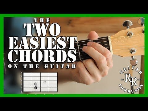 RR Beginner #2 | The Two Easiest Chords on the Guitar | Chords Lvl 1 ...