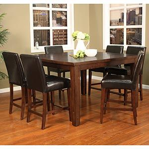 Brookshire 7 Piece Counter Height Dining Set Costco Com Dining Room Sets Counter Height Dining Sets Dining Table
