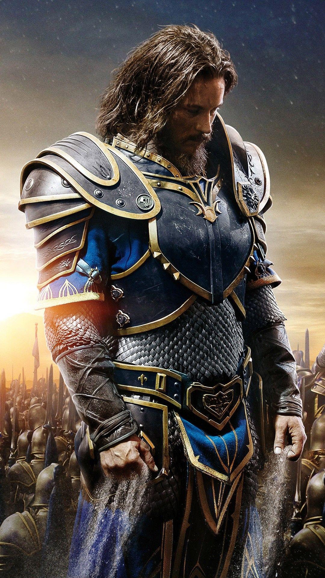 1080x1920 Anduin Lothar Warcraft Lothar Warcraft Warcraft Movie World Of Warcraft Wallpaper