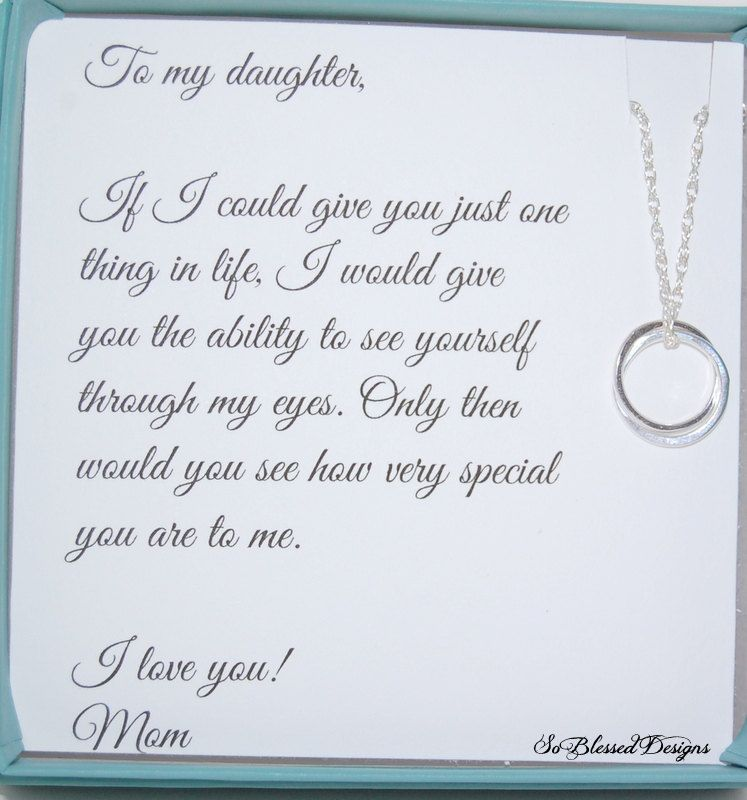 DAUGHTER Necklace To Daughter From Mom Daughters POEM Birthday Gift For Wedding