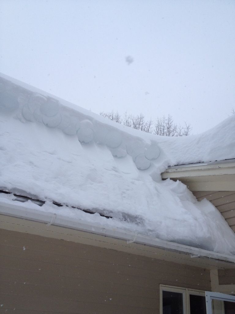 Snow Roof Rake Easy Diy From A Plaster Bucket And A Few Sections Of 10 Foot Poles Snow Outdoor Snow Removal