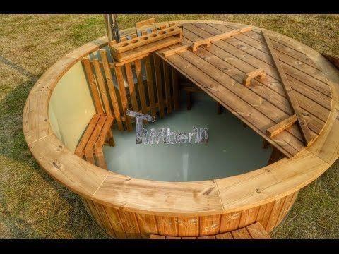Hot Tub Thermo Holz mit Kunststoffeinsatz für den Garten Pinterest