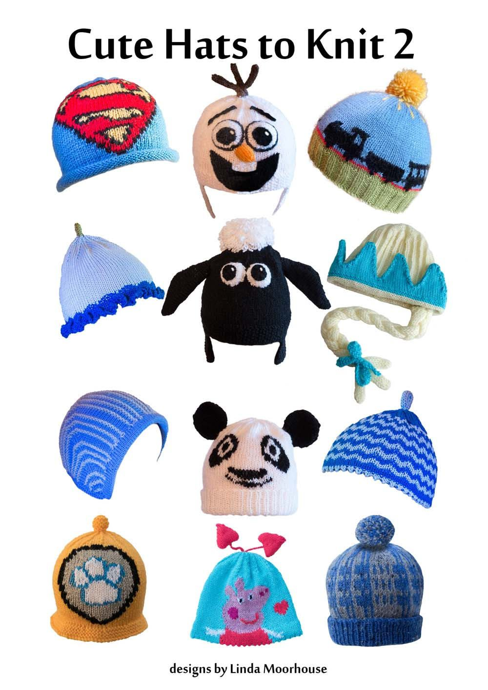 Cute hats to knit for children 2 - PDF knitting pattern - Olaf, Elsa ...