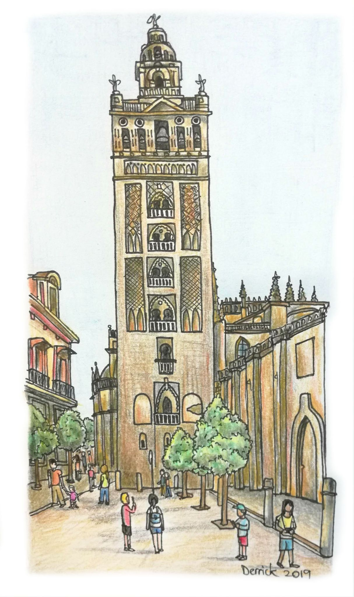What To Do In Seville An Illustrated Guide To Spain S Cultural Gem Stickymangorice En 2020 Catedral De Sevilla Museos Dibujos