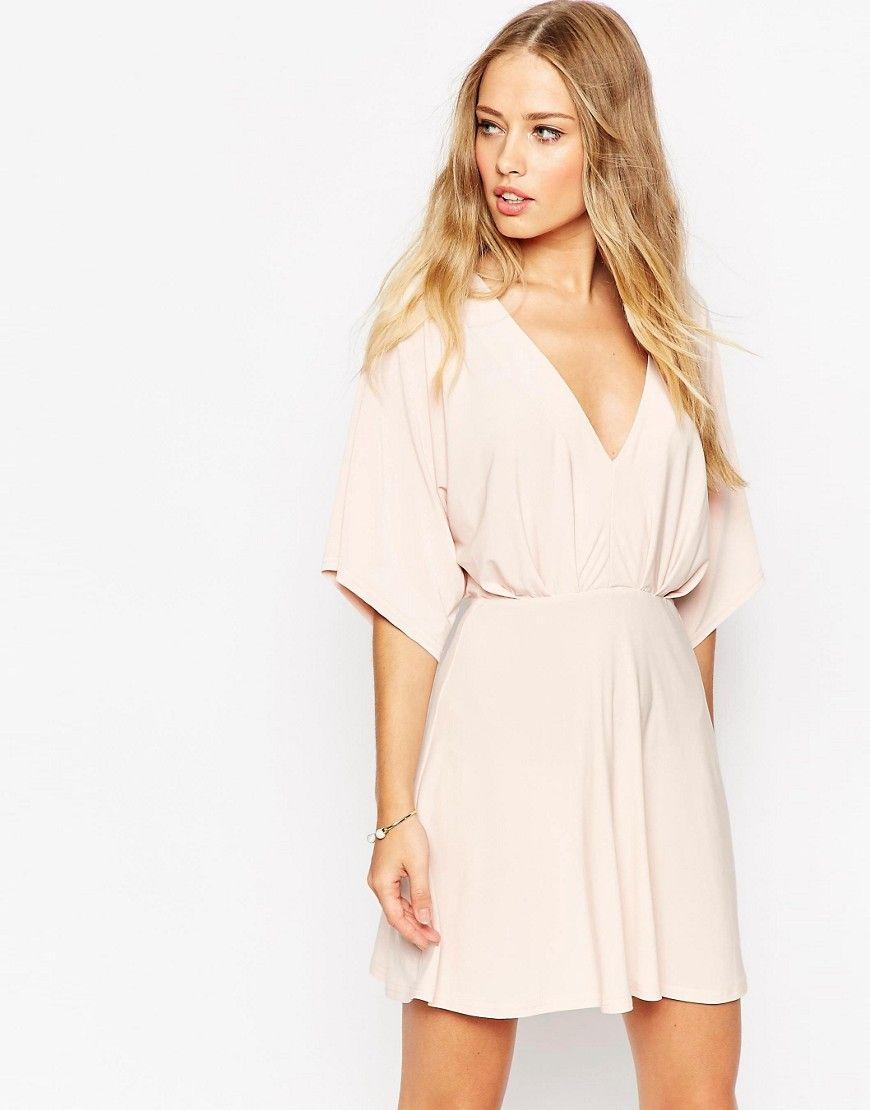 Image 1 of ASOS Kimono Plunge Mini Dress | clothes | Pinterest ...
