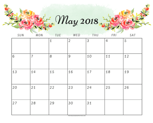 cute may 2018 calendar free printable free may monthly planner monthly calendar free download