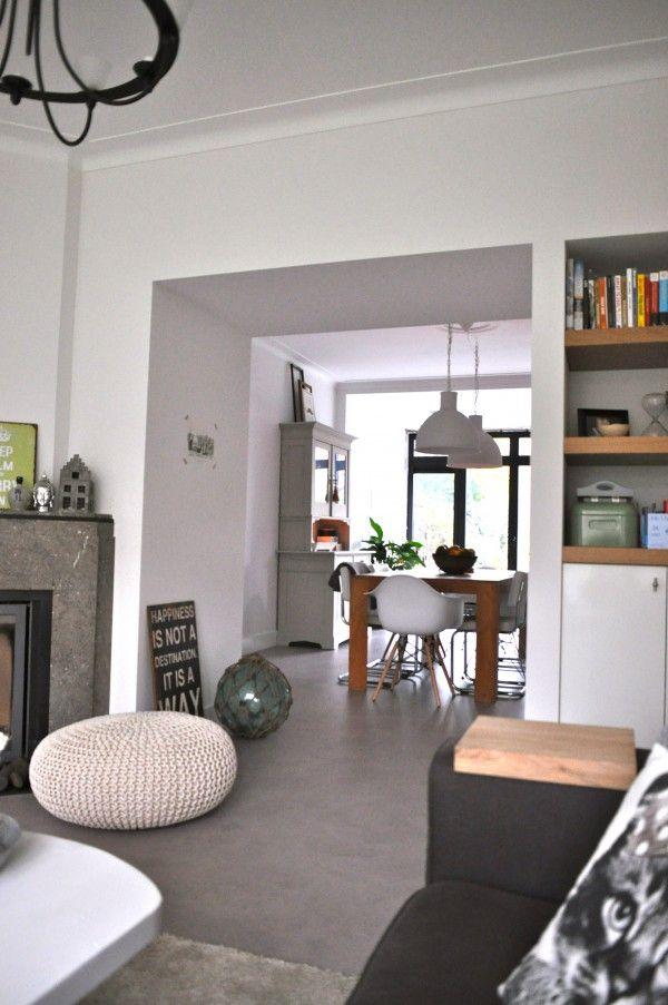 verlaagdplafond +inbouwkast van woonkamer naar keuken | House ...