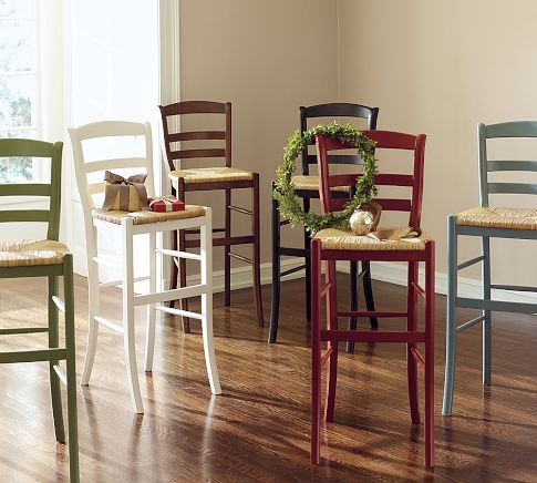 Bon My 2 Goodwill Rush Seat Bar Stools Are Going To Look This Good At A  Fraction. Pottery Barn BarPottery Barn KitchenCounter ...