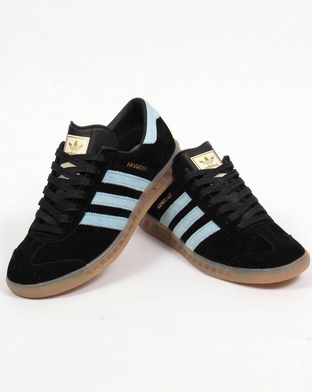 2f20a4fad50c adidas Originals Hamburg Trainers Black Sky Blue