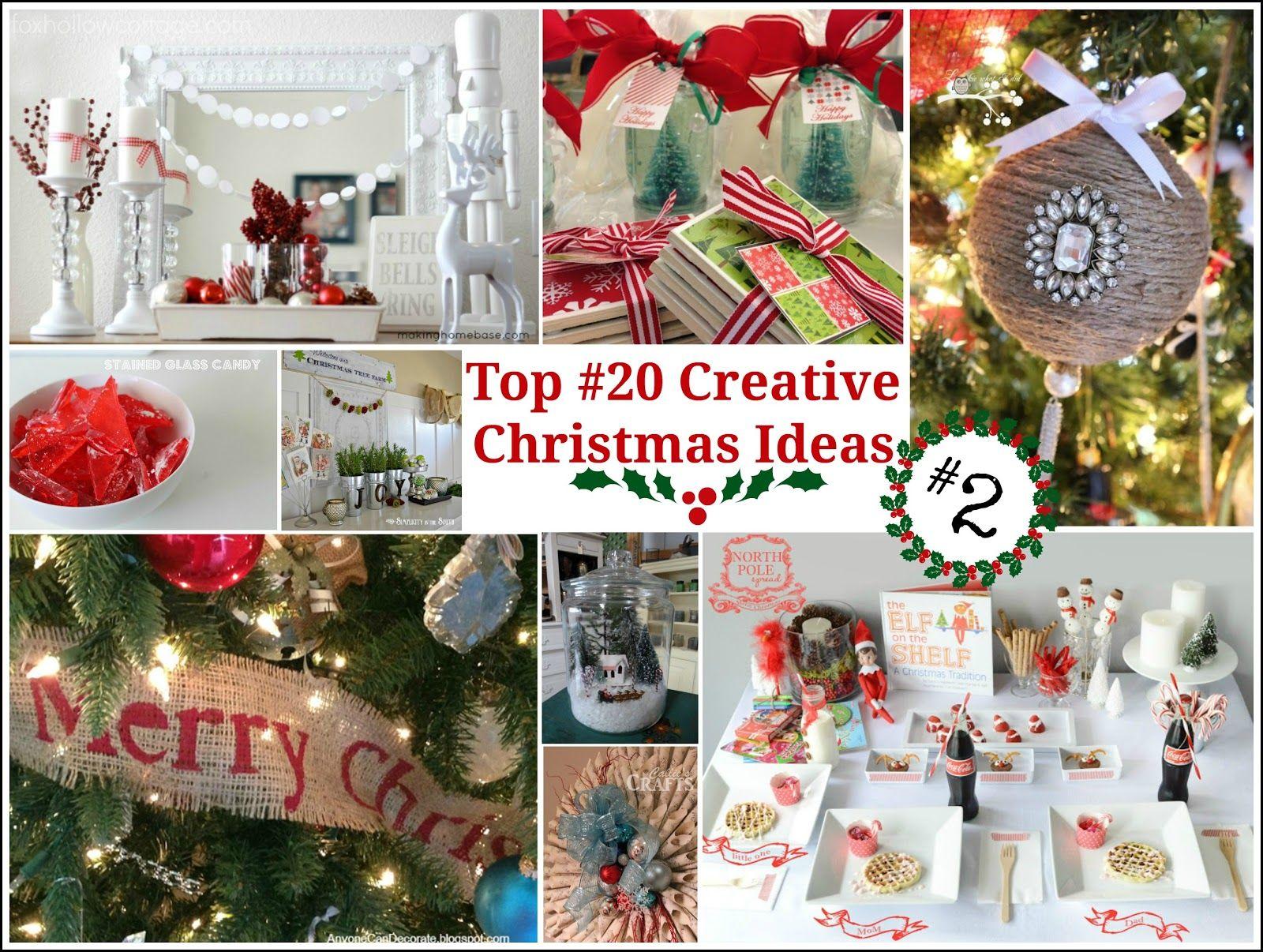 Top 20 Creative Christmas Ideas Ii Pinterest Christmas Crafts Holiday Crafts Christmas Creative Christmas