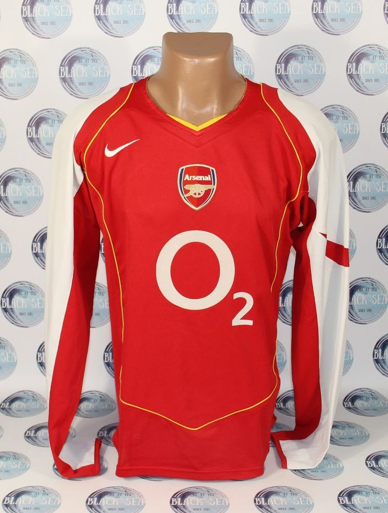dfaa910f9ff ARSENAL 2004 2005 FOOTBALL SOCCER SHIRT JERSEY TRIKOT CAMISETA LONG SLEEVE  NIKE  Nike  Arsenal