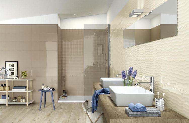 Badezimmer In Brauntönen Blaue Akzente Badezimmer - Bad fliesen brauntöne