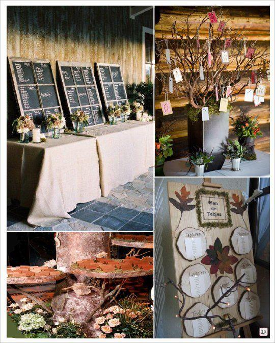 mariage automne plan de table ardoise arbre | Wedding ...