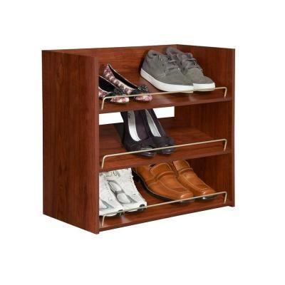 Closet Maid Impressions 3 Shelf Shoe Organizer In Dark Cherry   DEC18