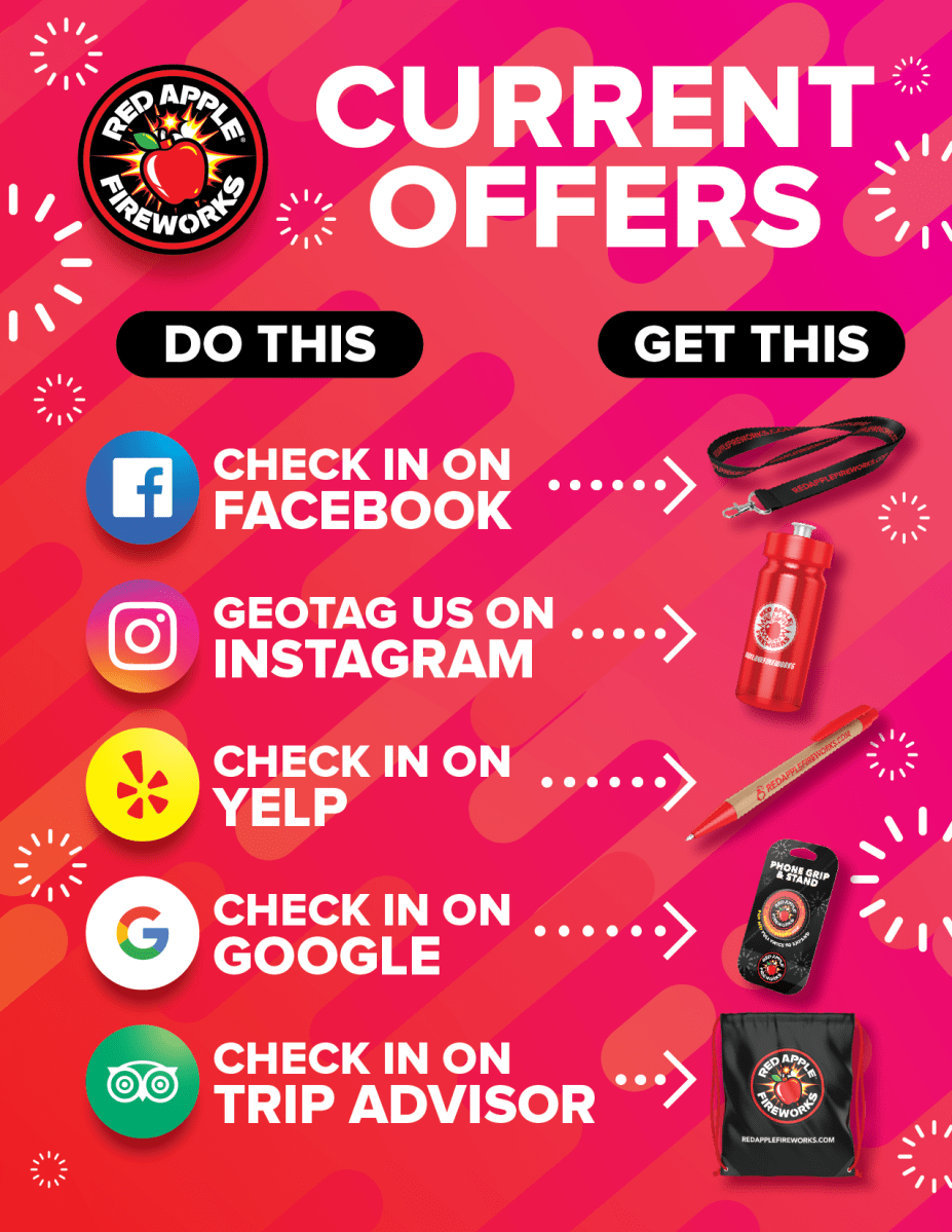 Do This, Get This at Red Apple® Fireworks | Deals Steals