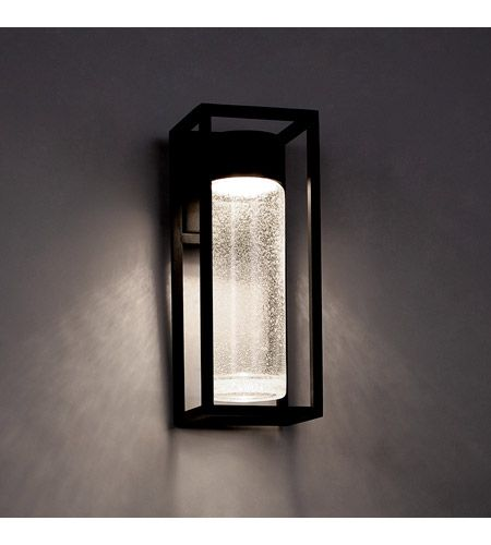 Structure Led 16 Inch Black Outdoor Wall Light In 16in Exterior Wall Light Modern Outdoor Lighting Led Outdoor Wall Lights