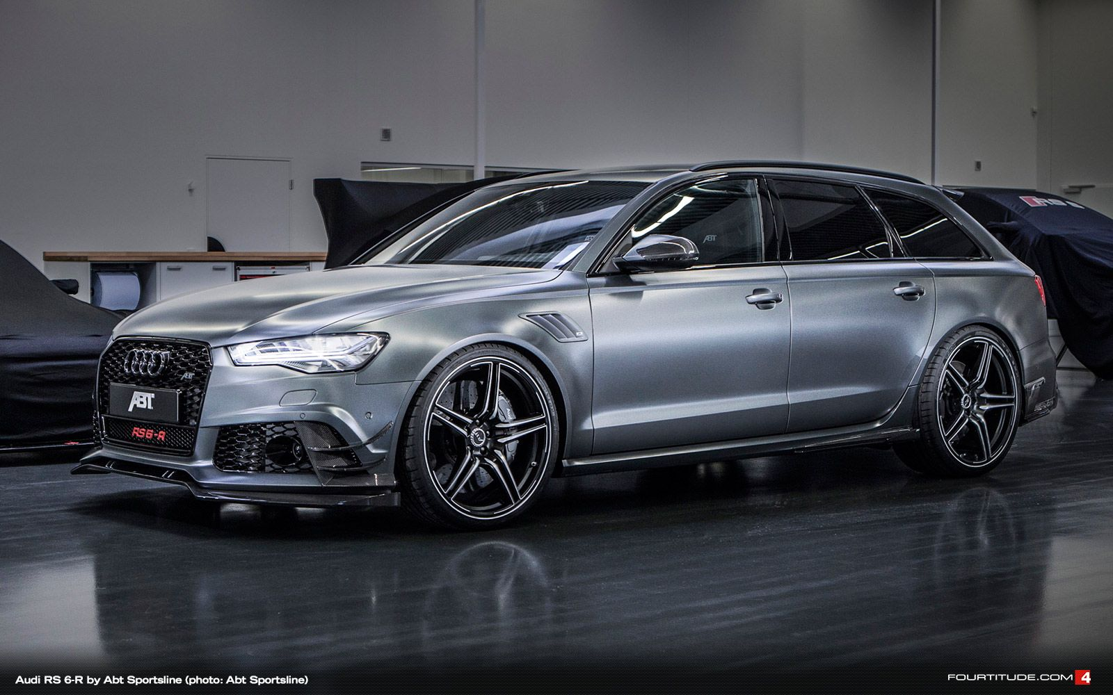 the daytona grey matt paintwork of the abt rs6 r to be shown in geneva says it all with 730. Black Bedroom Furniture Sets. Home Design Ideas