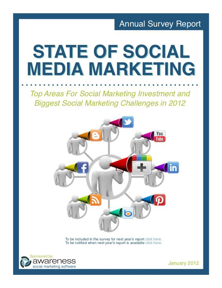 The State of Social Media Marketing (Report) Social Media Stats - marketing report