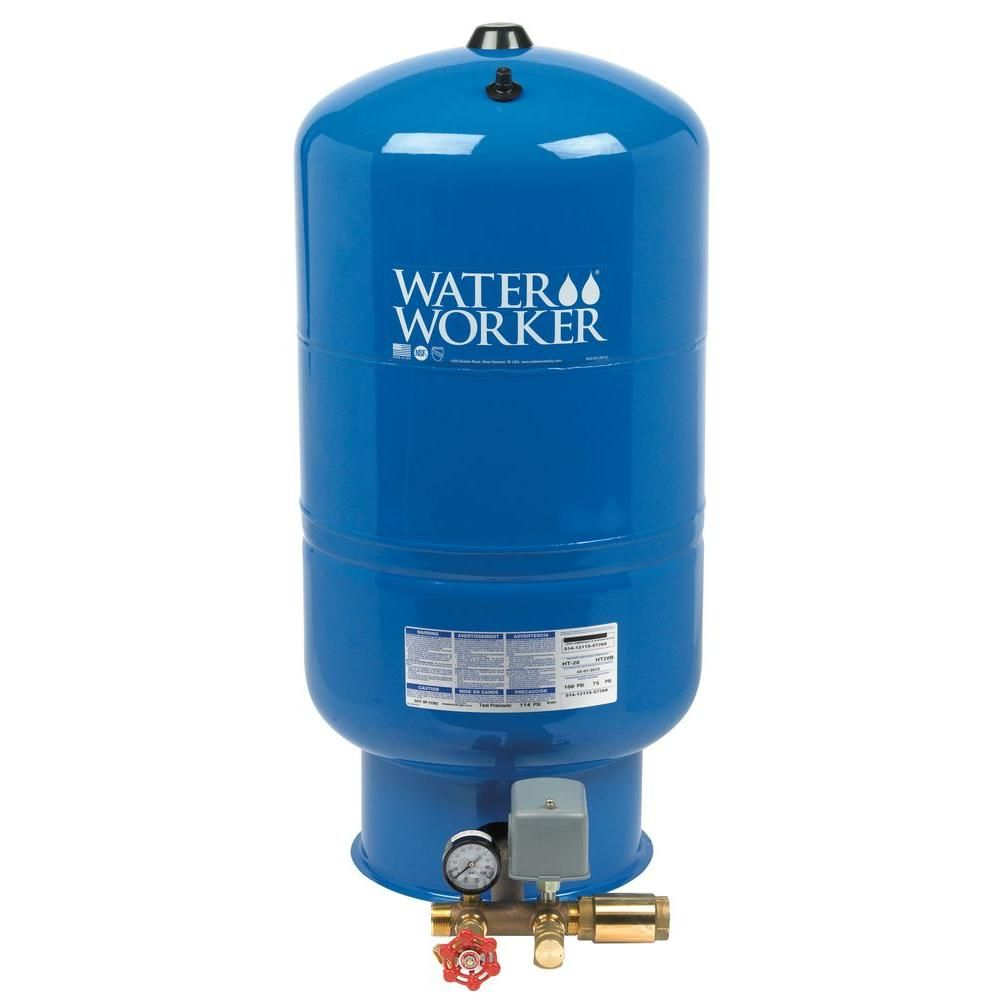 Water Worker 20 Gal Pressurized Well Tank Ht20b Well Tank Steel Worker Well Pressure Tank