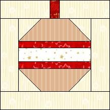 Block of Day for December 23, 2016 - Christmas Ornament-foundation-The pattern may be downloaded until: Monday, January 2, 2017.