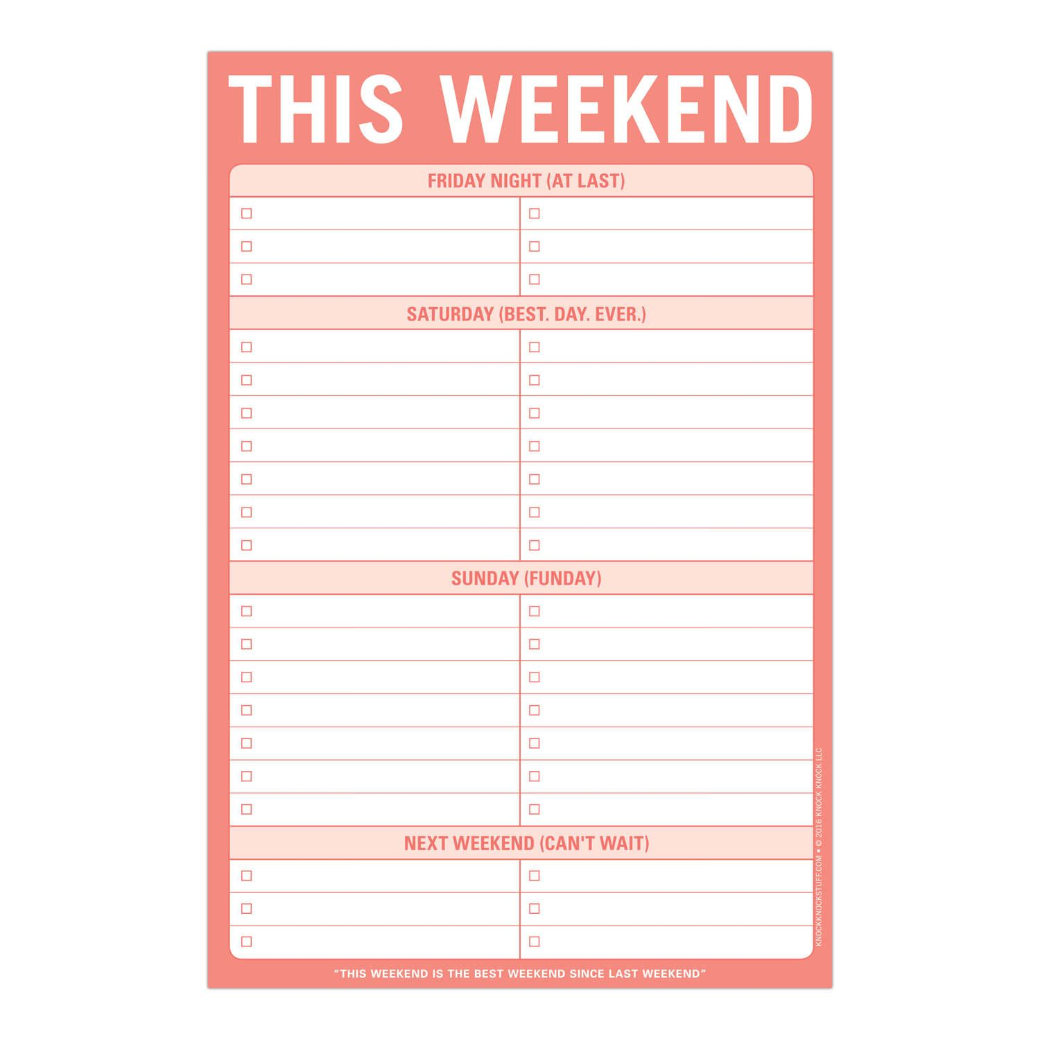 150c0c5dba9d3 This Weekend Pad | STICKY NOTES AND PADS | To do lists printable ...