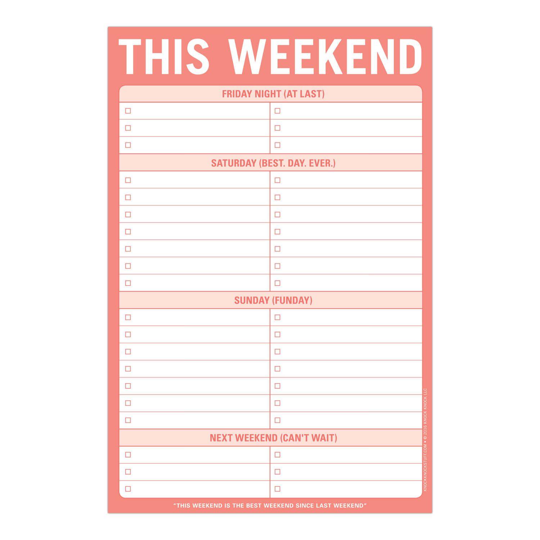 This Weekend Pad
