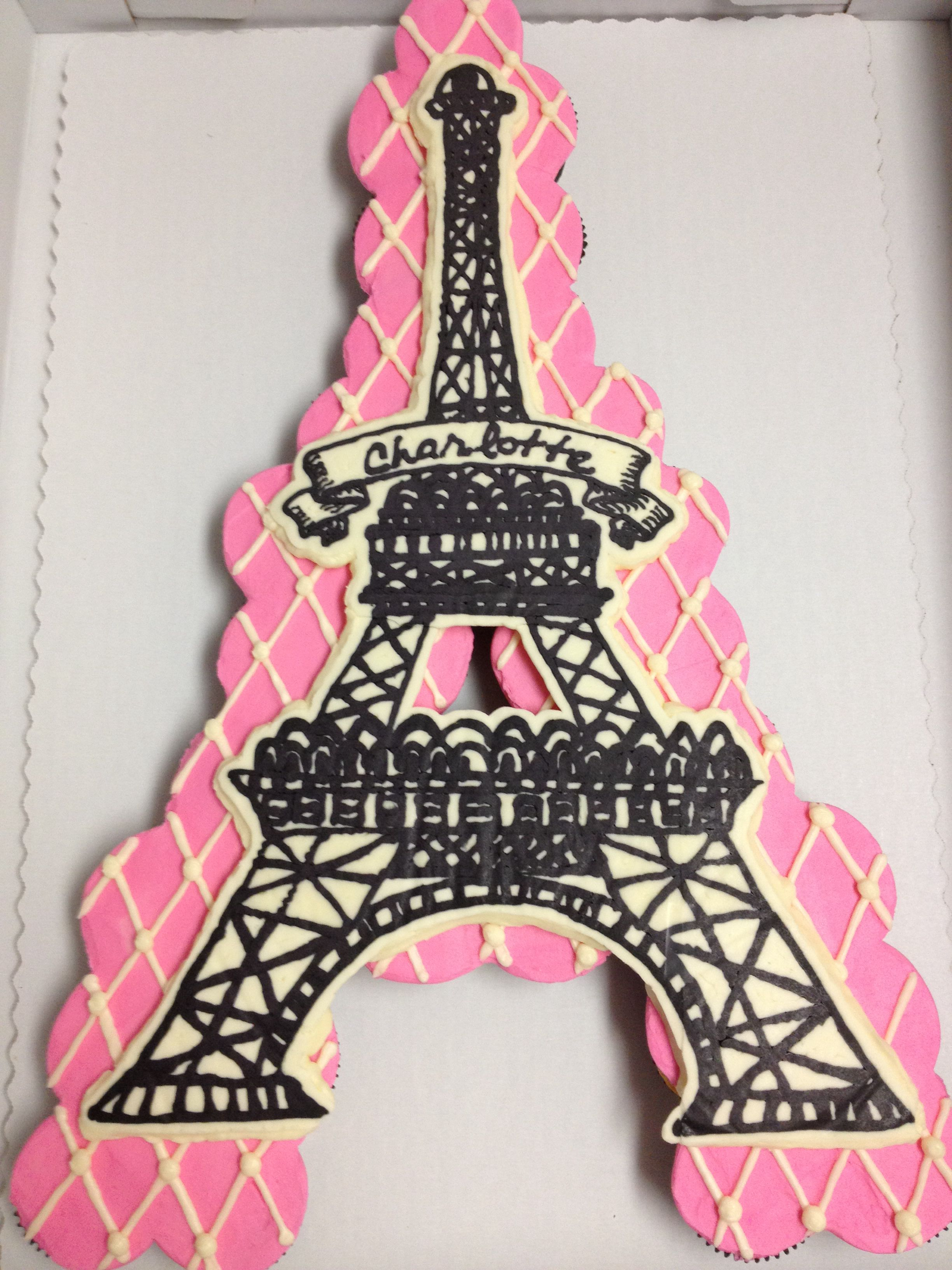 Sensational Eiffel Tower Cake With Images Eiffel Tower Cake Paris Personalised Birthday Cards Beptaeletsinfo