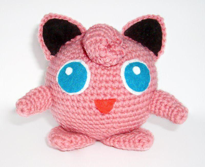 Gotta catch \'em all! Make this adorable amigurumi Jigglypuff with ...
