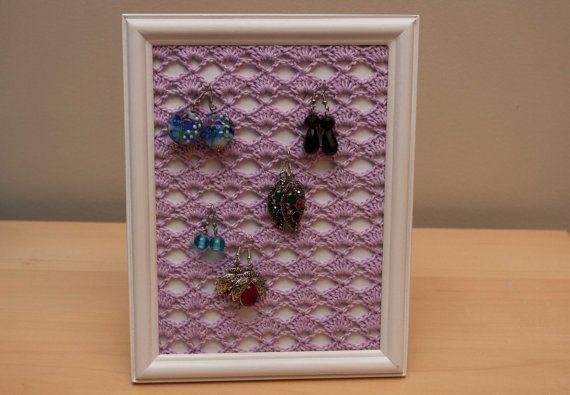Crochet Earring Stand Earring Holder Crochet Jewelry Organizer