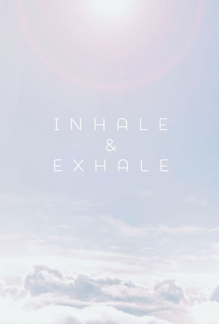 Minimal pale grey blue clouds Inhale Exhale iphone wallpaper background phone lockscreen ...