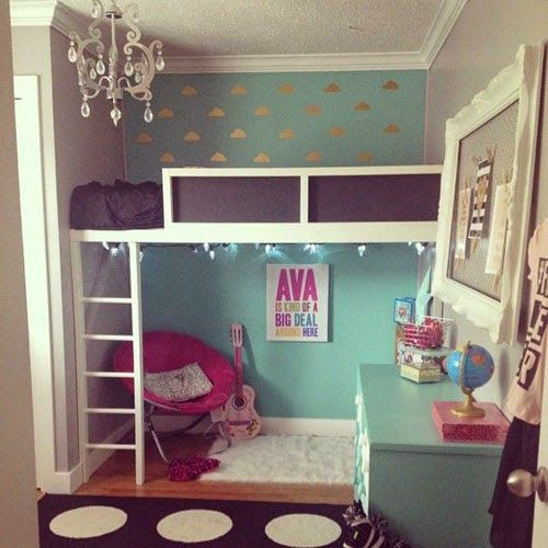 Mommo Design: GIRLY LOFT BEDS