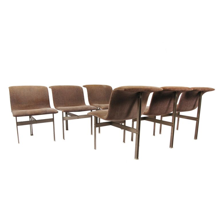 set of six wave dining chairs by giovanni offredi - Set Of Six Dining Room Chairs