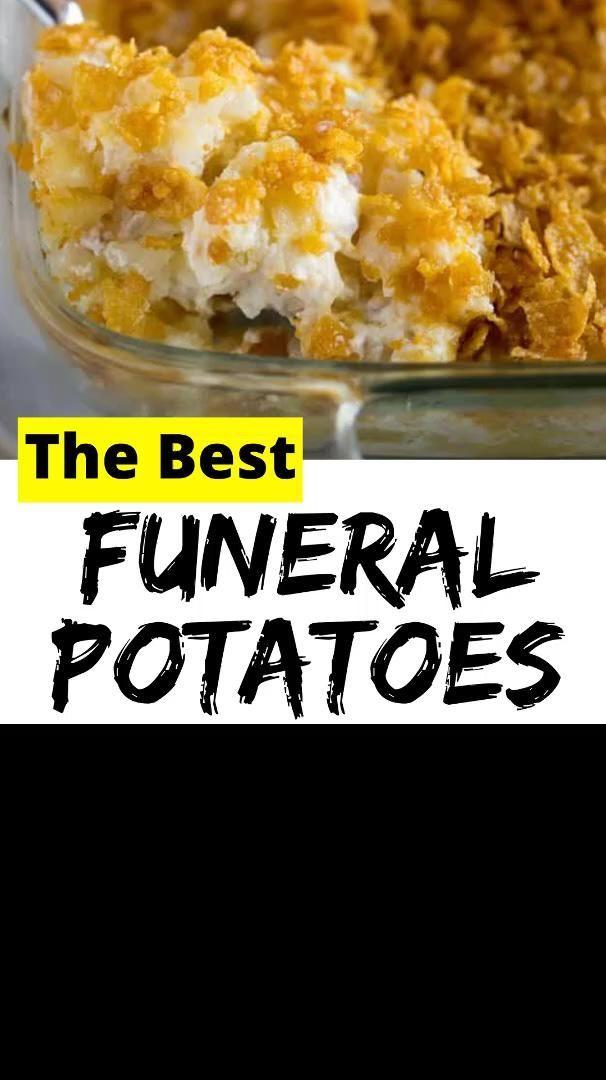 Best Funeral Potatoes [Video] in 2020   Easy funeral potatoes recipe, Funeral potatoes, Cheesy potat