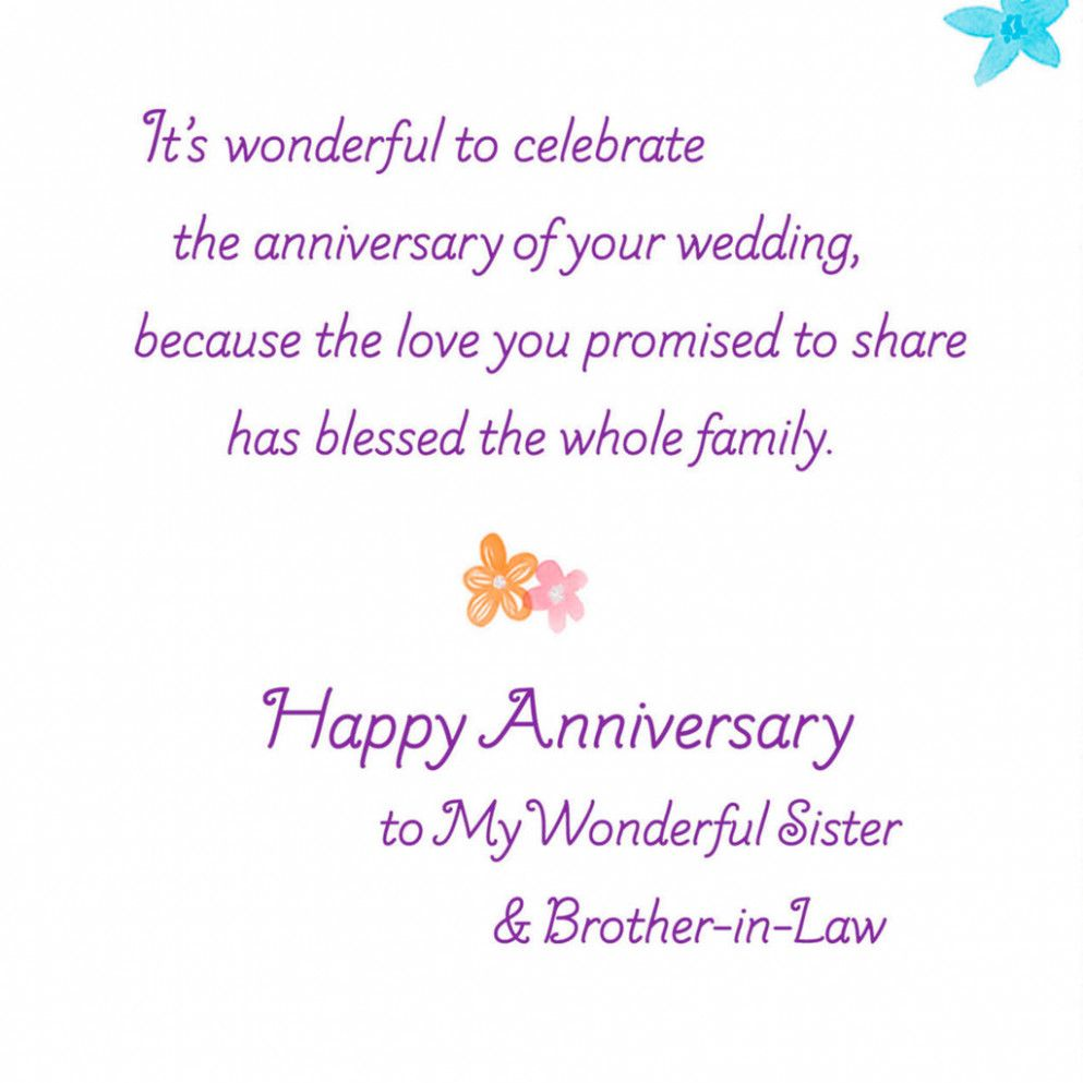 Anniversary Card For Sister And Jiju Anniversary Wishes For Friends Happy Anniversary Sister Anniversary Wishes For Sister