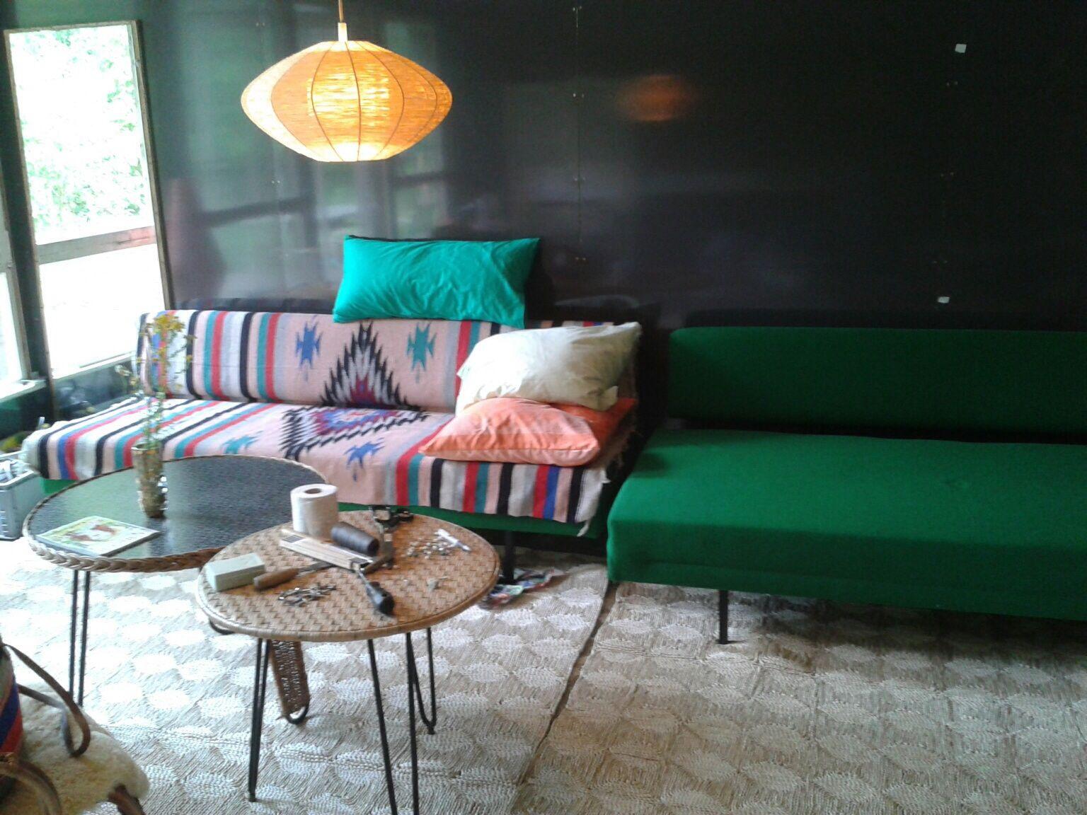 Garden house furniture interior style s green sofa sofa