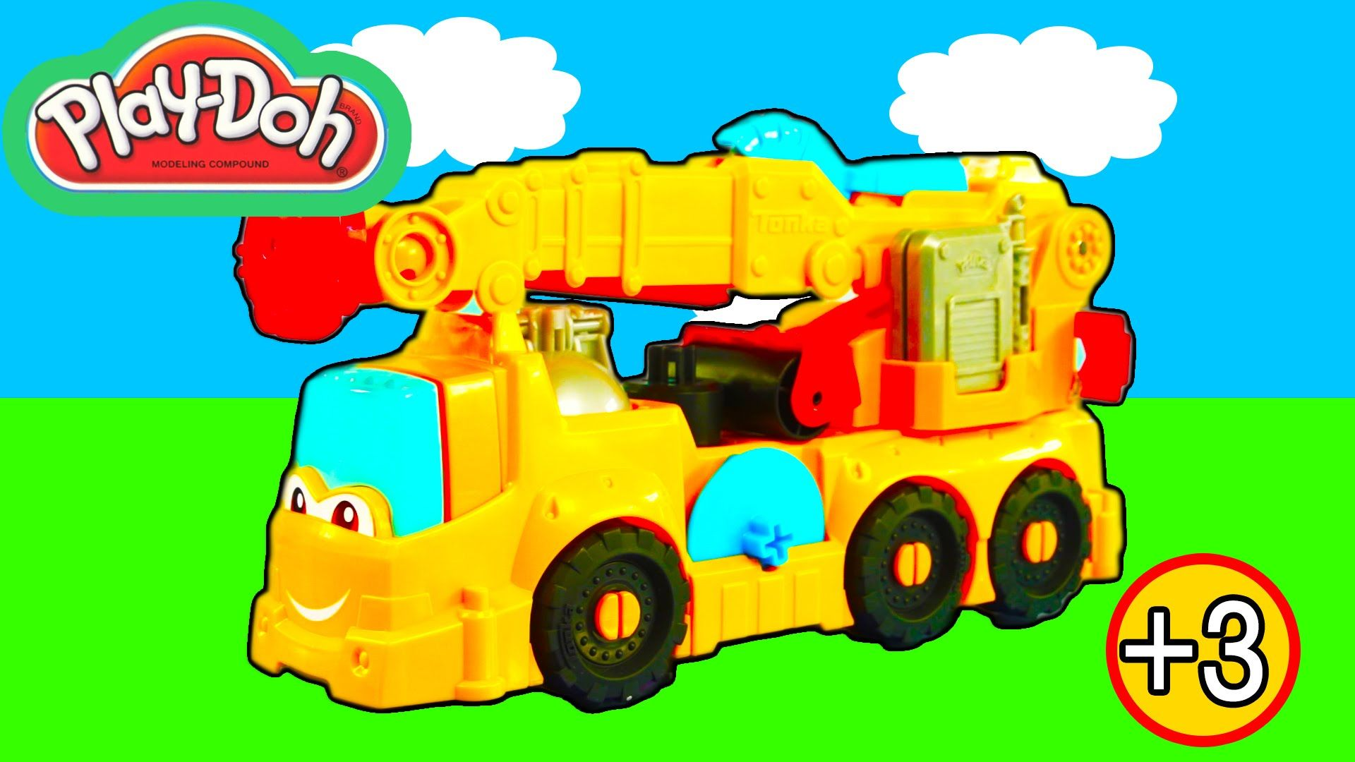 Play Doh Diggin Rigs Buster The Power Crane Playset Kids