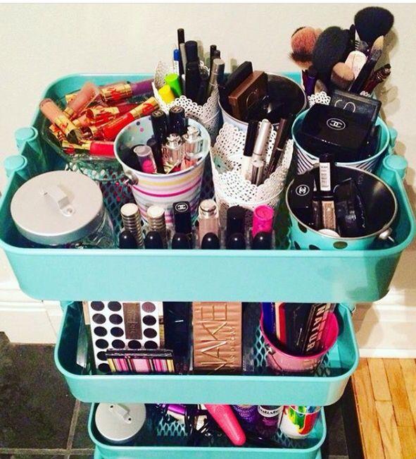 Ikea Raskog Cart Used For Makeup Storage I Used Various Tea Light