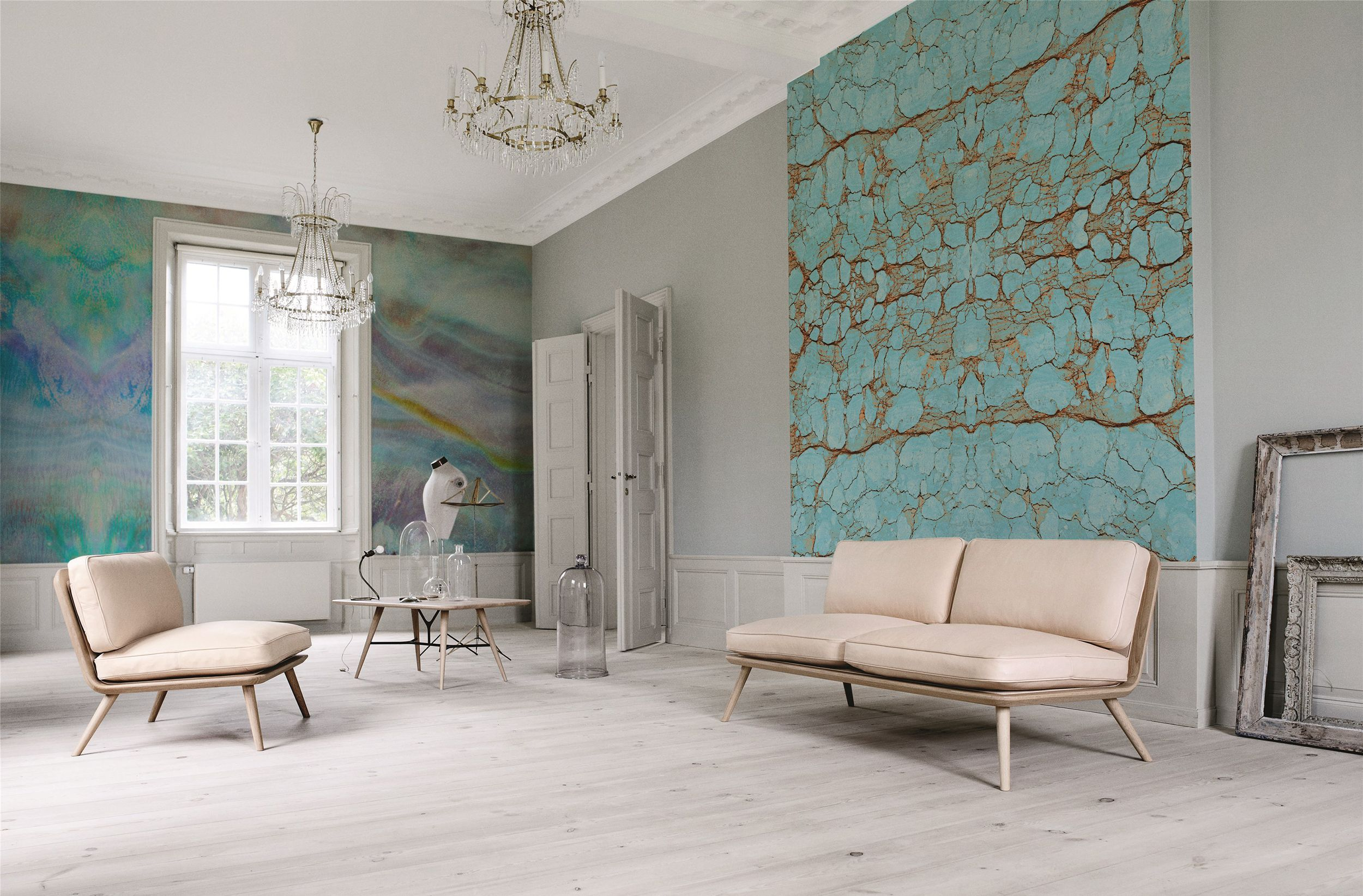 Natural harmony • Scandinavian Living room Abstraction Nature