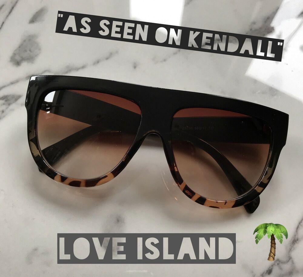 Shadow Shield Flat Top Oversized Women Designer Inspired Celebrity Sunglasses