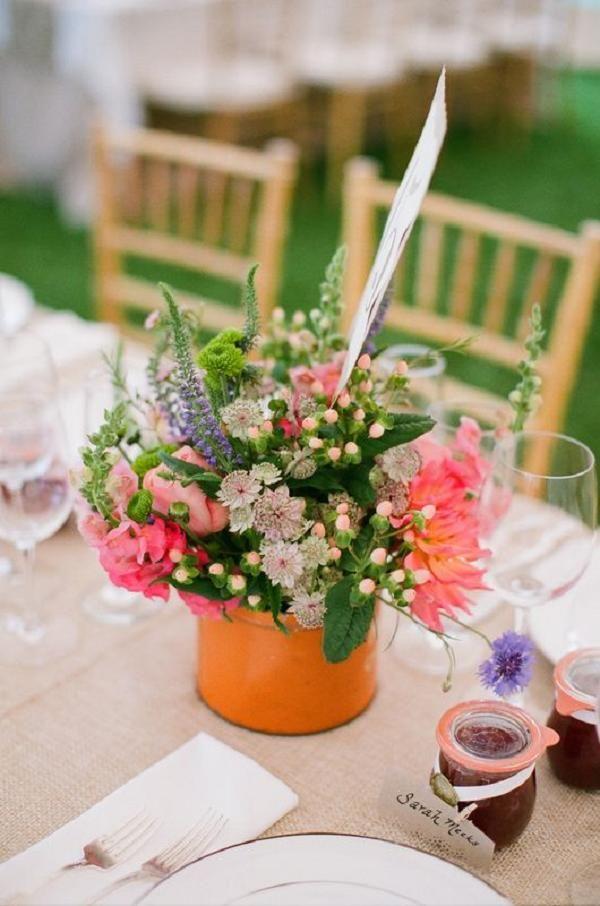 Gallery Vintage Wildflowers Wedding Centerpiece Ideas