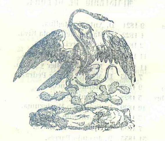 Escudo Nacional Mexicano. Undécimo calendario de J. M. Lara para ...