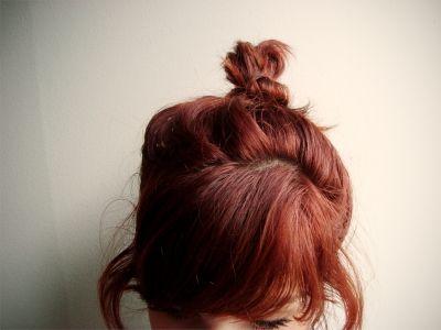 Red Bun Hair Ginger Hair Hair Beauty