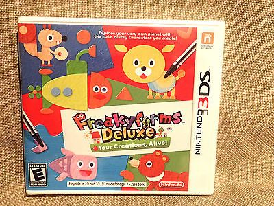 Freaky Forms Deluxe: Your Creations, Alive (Nintendo 3DS) NEW & Sealed NTSC-U/C