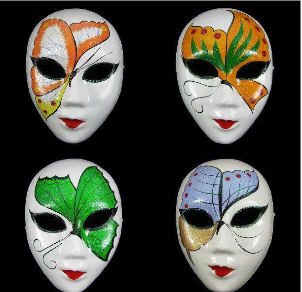 Como decorar mascara de yeso Imagui caretas papel mache