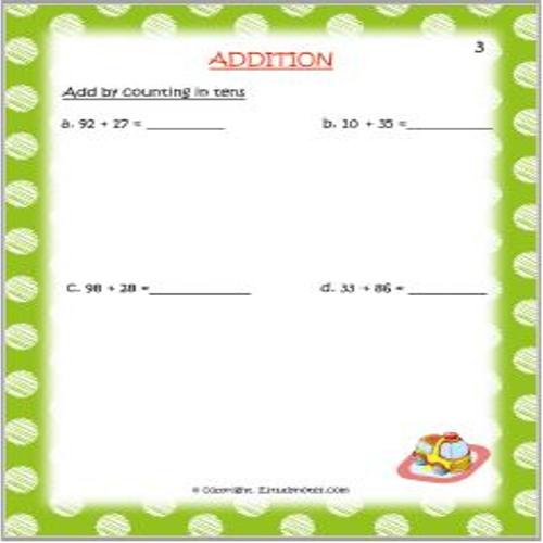 Addition EStudyNotes Math addition worksheets